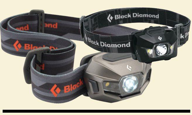 Black Diamond headlamps - ReVolt & Storm - Pack and Paddle