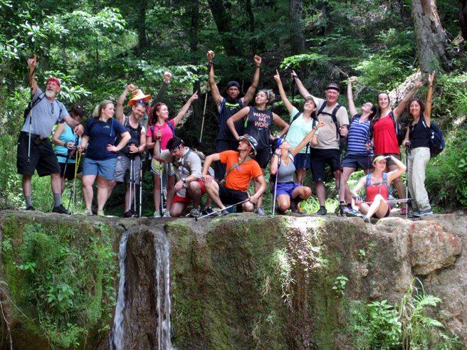 Waterfall Hike Clark Creek Pack & Paddle