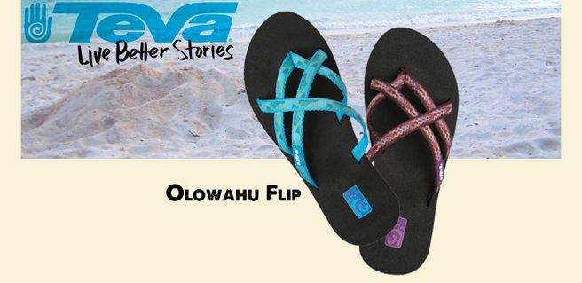Teva Flip Flop Summer Pack & Paddle