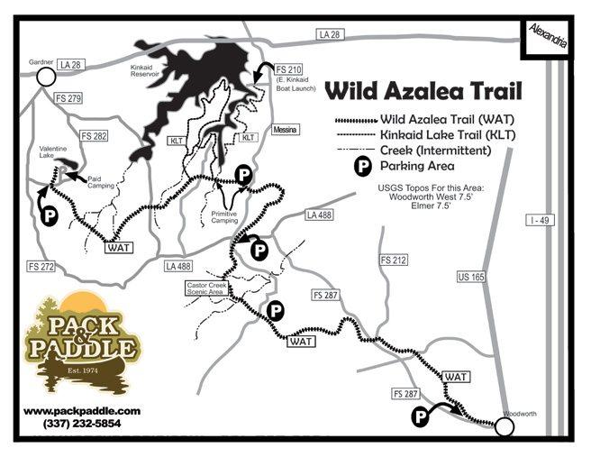 Wild Azalea Trail map