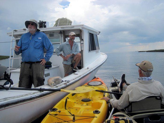 LA Biloxi Marsh Mothership Kayak Fishing Trip August 2014 Pack & Paddle