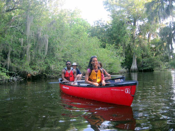 Two O'Clock Bayou Paddle July 2014 Pack & Paddle